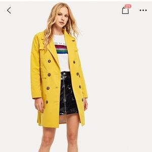 Shein light Yellow Coat